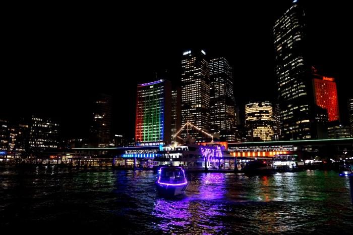Sydney Harbur during Vivid Sydney Festival