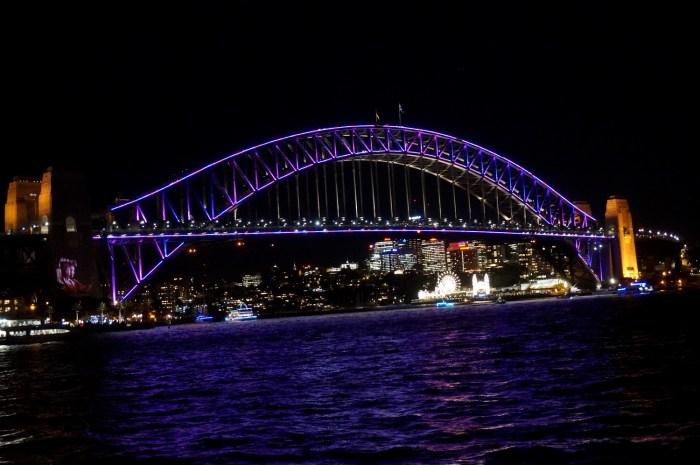 Harbour Bridge during Vivid Sydney Festival