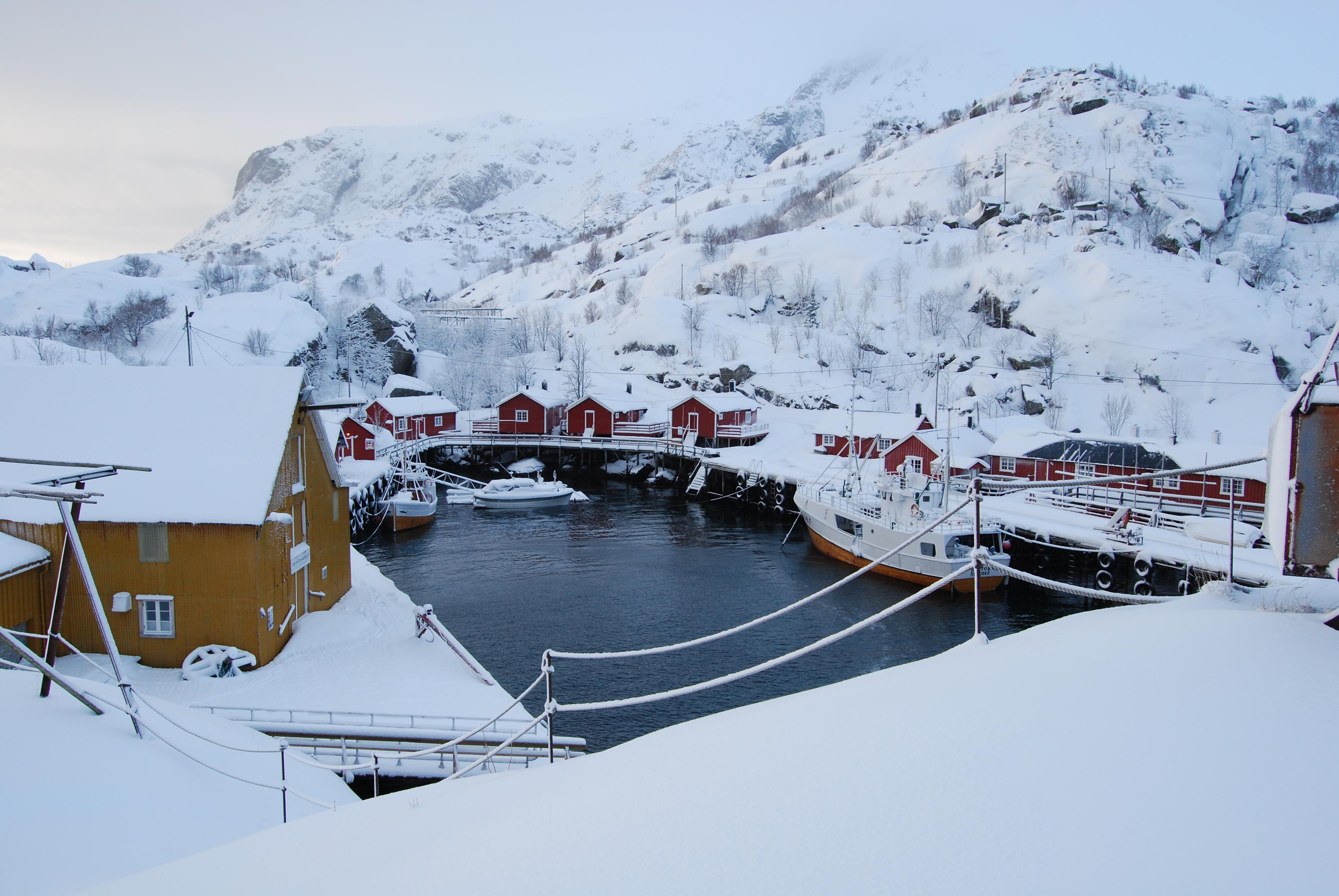 Nusfjord Zimą, fot. Marcin Łapiński