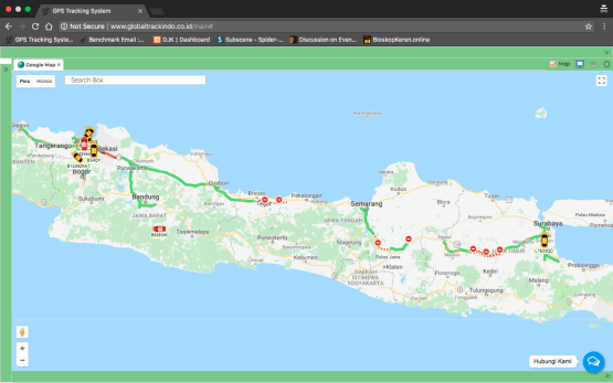 tampilan web view GPS Tracker