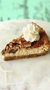 Image of pecan cheesecake pie