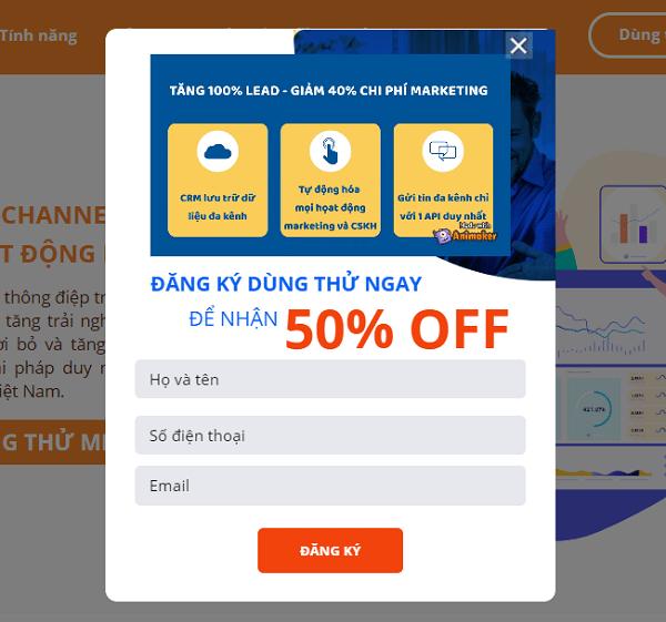 Đăng ký thông tin để tạo tài khoản