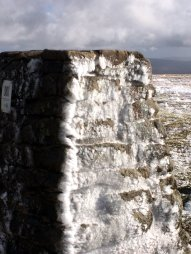 Ingleborough - Frozen Trig Point