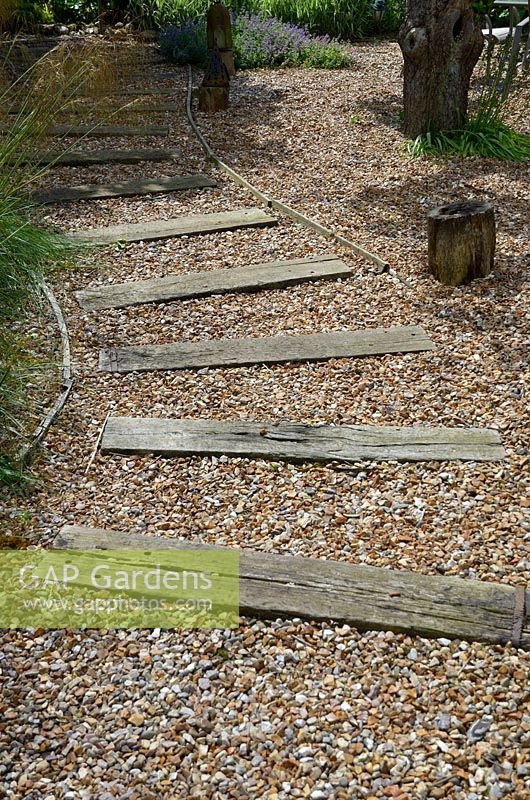 GAP Gardens  Shingle pathway path designed with recliamed