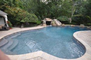 Freeformed gunite swimming pool design Smithtown ny gappsi