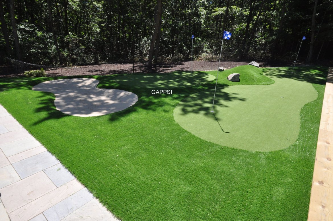 Putting Green design and installer contractor company long island Gappsi