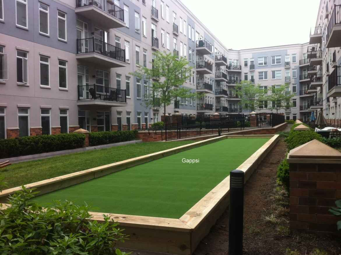 Bocce Court with syntjetic turf in Nassau County Long Island NY