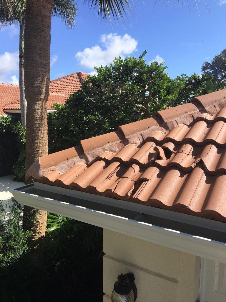 Cracked roof repair