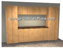 10 ft Garage Cabinet Plans - 9 pc Set