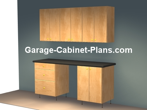 6 Ft Plywood Garage Cabinet Plans Garage Cabinet Plans