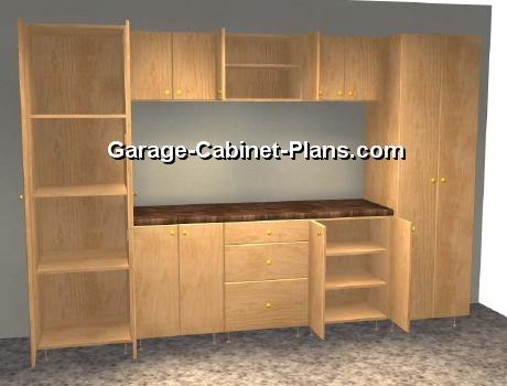 10 ft Garage Cabinet Plans  9 pc Set