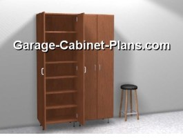 Cabinet doors are opne