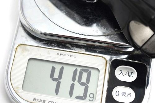エルゴステム「LOOK ERGOSTEM 31.8(419g)」と「取扱説明書」、「26.0mmと31.8mmの重量比較」
