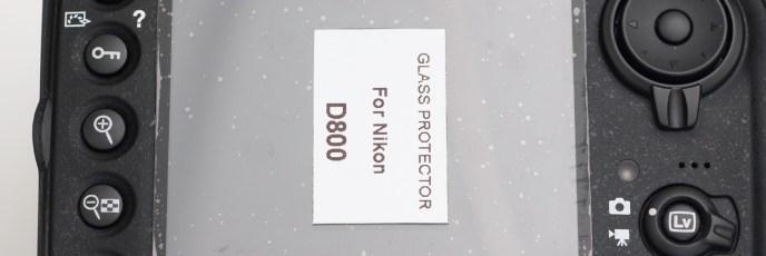D800の3.2型TFT液晶モニターに「FOTGA 強化ガラス プロテクター」を装着