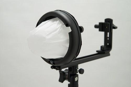 自作スピードライトストロボ「ボーエンズマウント」用トレペグローブ