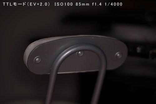 TTLモード(EV+2.0) ISO100-85mm-f1.4_4000