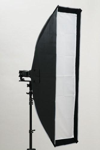 「ストリップ型30×120ソフトボックス」クリップオンストロボ×1台のF値測定