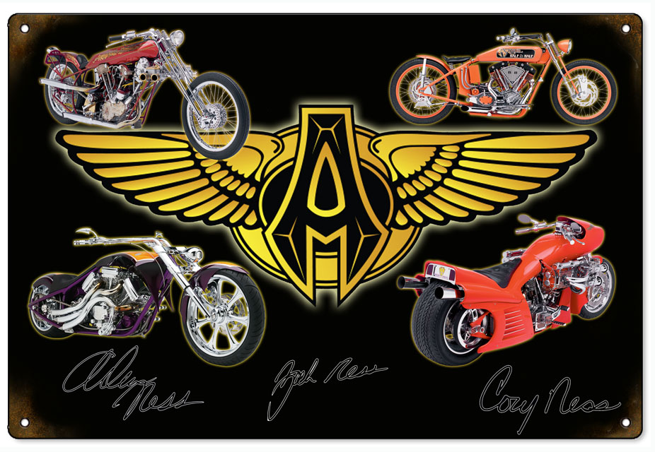 RG6769 Three Generations Arlen Ness Custom Motorcycle