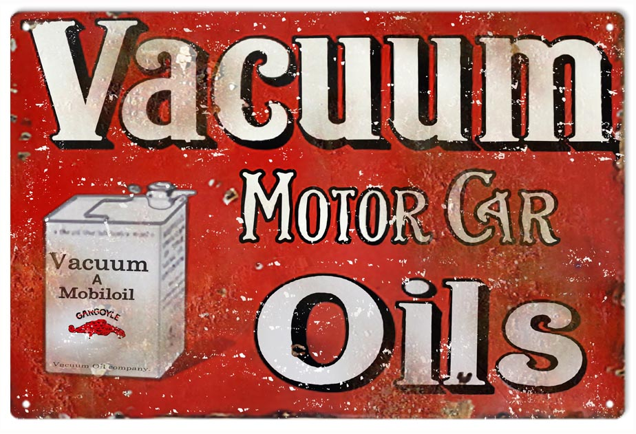 Reproduction Vacuum Motor Car And Gasoline Oils Sign Reproduction Vintage Signs