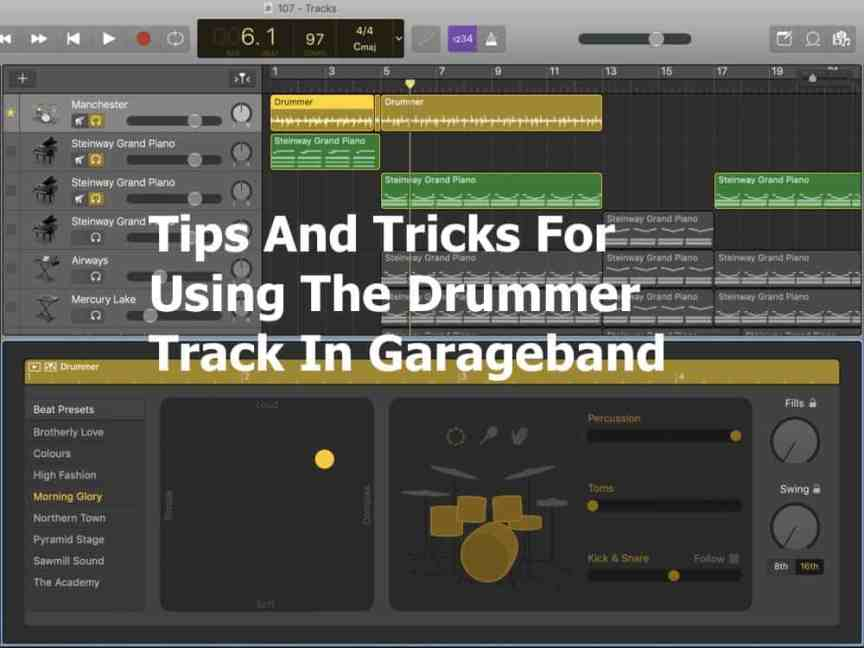 Tips and Tricks For Using the Drummer Track In Garageband -