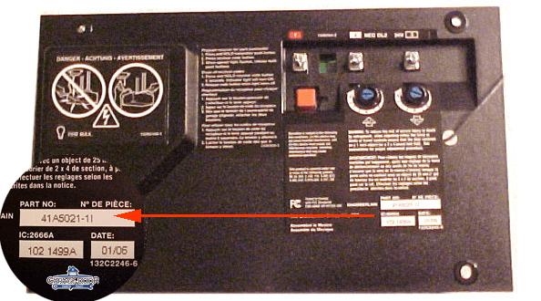 LiftMaster Chamberlain Garage Door Opener Circuit Board  Garage Door Parts Mart