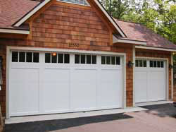 Metal Carriage Doors - Wide White