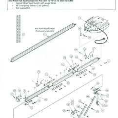 Genie Garage Door Parts Diagram Hopkins Wiring Screw Drive 3 Pc Rail Exploded View Stuff