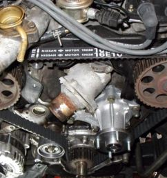 it is recommended that you replace the timing belt every 60 000 miles 100 000km or 6 years to be on the safe side some owners are known to replace it  [ 1193 x 725 Pixel ]