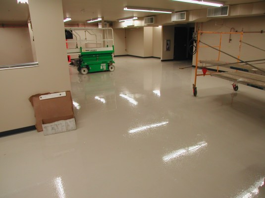Industrial coating for a service center
