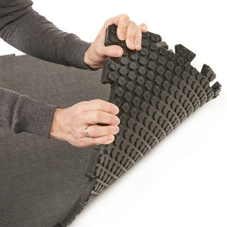 Gymguard Solid Rubber Garage Gym Flooring Mat 1m X 1m Garage Floors Direct