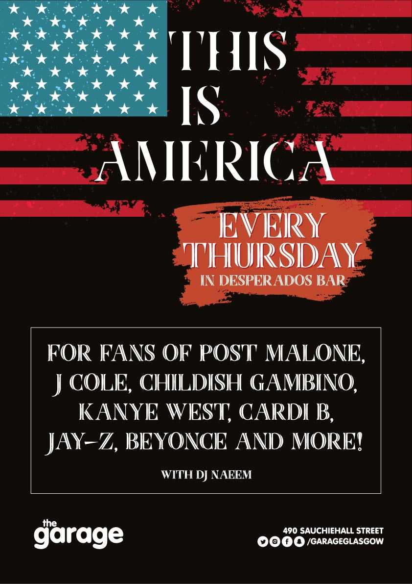 this is america thursday nightclub glasgow