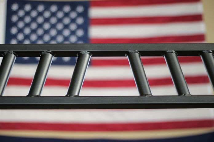 Edge Fitness Football Bar with American Flag