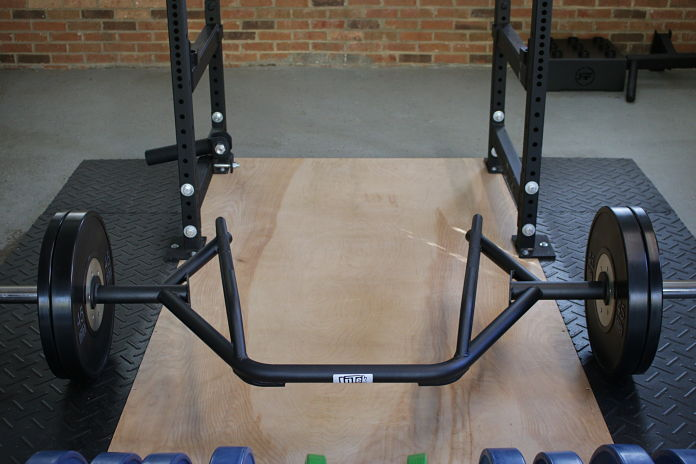 Intek Functional Trap Bar Front View in Garage Gym