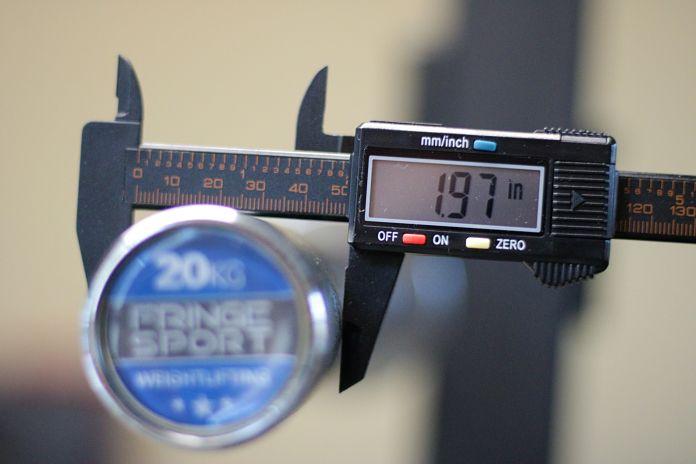 Fringe Sport Weightlifting Bar Sleeve Diameter