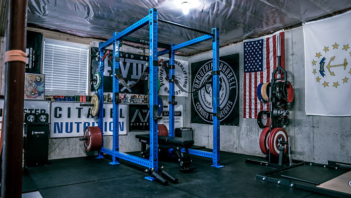 Step into brandon campbell s badass home gym garage lab