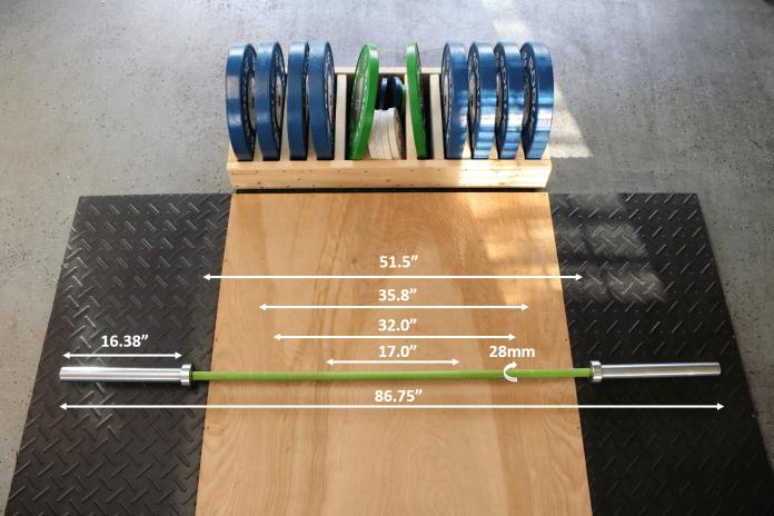 California Bar Measurements Garage Gym Lab