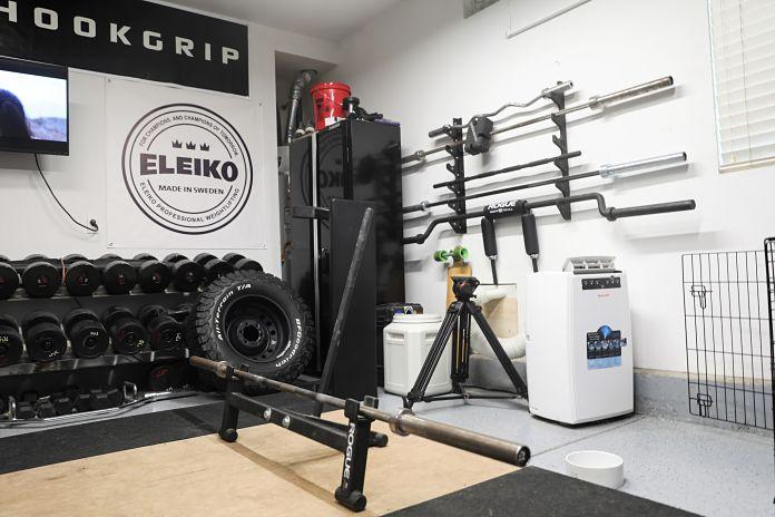 Step into liam connolly s incredible garage gym garage gym lab