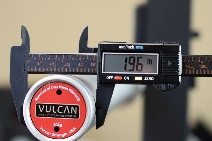 Vulcan Absolute Power Bar Sleeve Diameter Garage Gym Lab