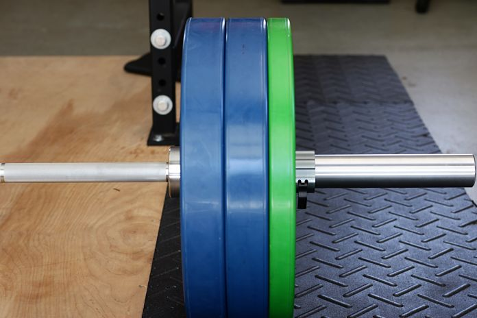American Barbell Grizzly Bar Loaded Garage Gym Lab