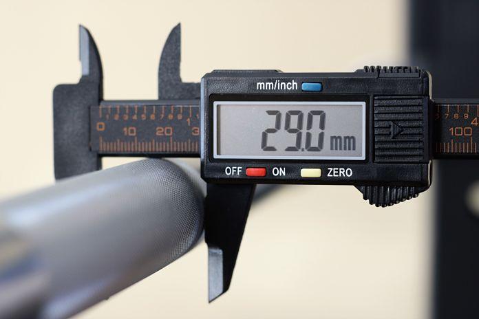 American Barbell Grizzly Power Bar Shaft Diameter Garage Gym Lab
