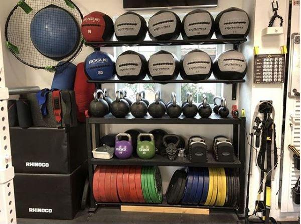 White Box Storage Powerlifting Garage Gym Lab