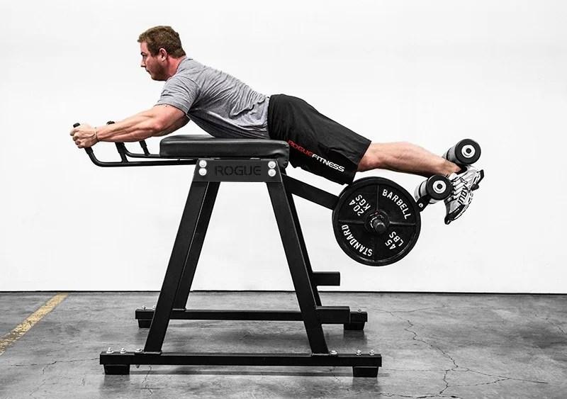 Diy reverse hyper table top edition garage gym lab