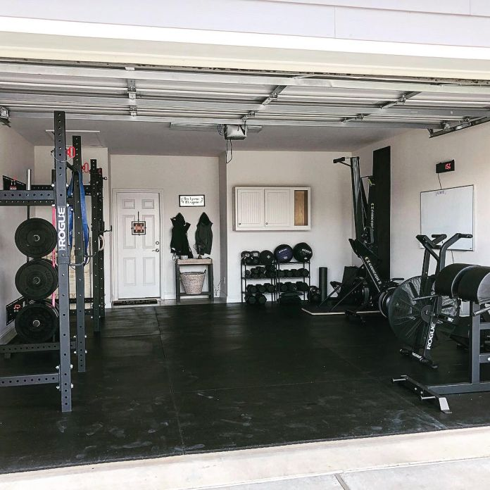 Step into this crossfit couple s sweet garage gym