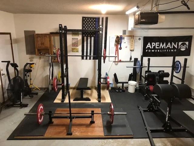 SWAT Officer's Powerlifting Garage Gym 4 Garage Gym Lab