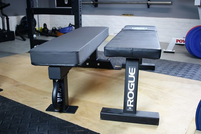 Rep Fitness FB-5000 vs Rogue Flat Bench Garage Gym Lab