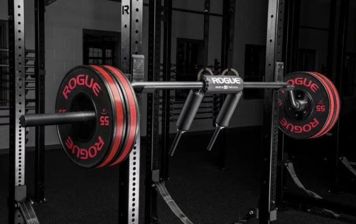 Rogue Fitness Safety Squat Bar Garage Gym Lab