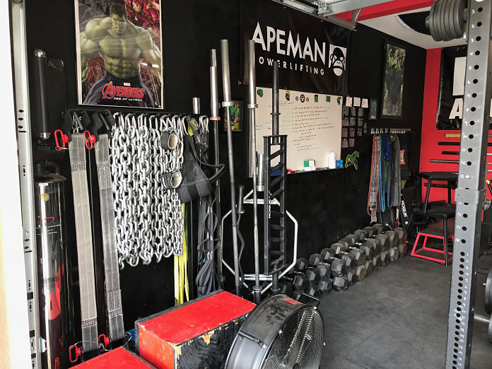 Step into this retired marine s pain cave garage gym lab