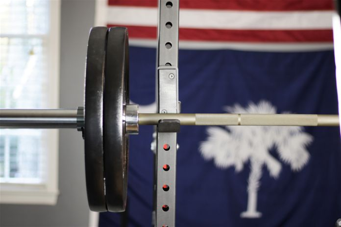 Rep Fitness PowerSpeed Bar Squat Garage Gym Lab