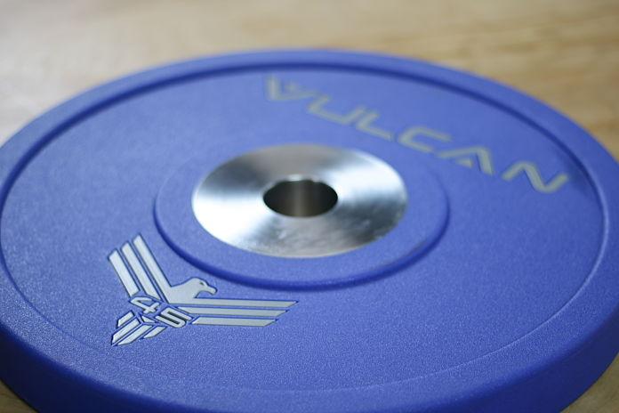 Vulcan Bumper Plates Urethane 45 lb - Garage Gym Lab