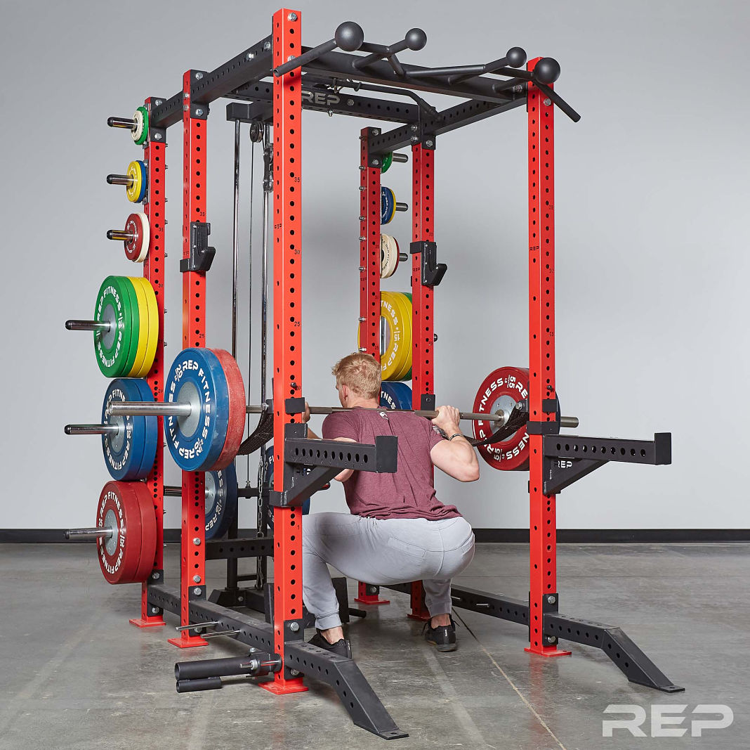 Rep fitness pr rack release garage gym lab